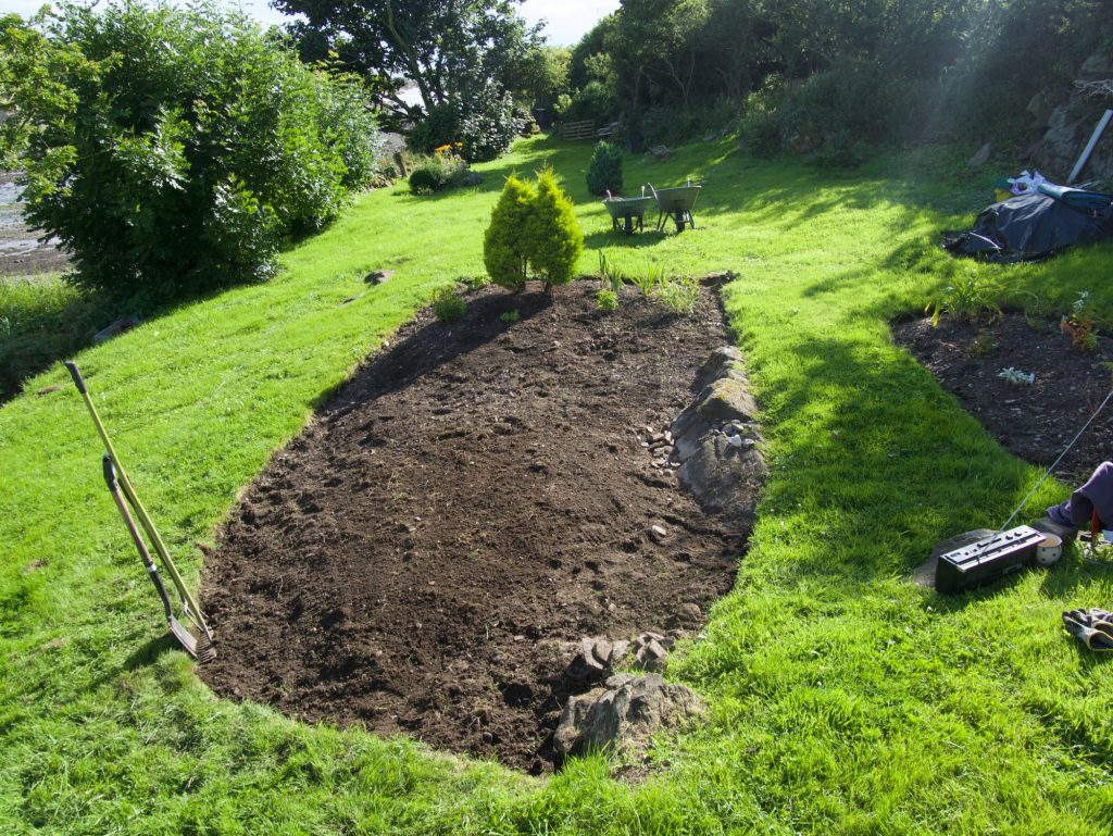 New bed in the middle garden