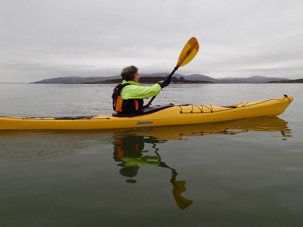 Kayaking past Ardwall Island